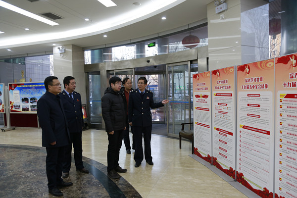 新區黨工委副書記王新峰一行深入新區稅務局走訪慰問